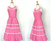 Vintage Cotton Sundress -...