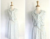 1960s polka dot dress - 6...