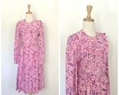 Vintage Lilly Pulitzer Dress - prairie dress - cotton - sundress - peasant dress - M L