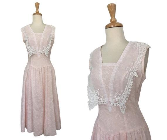 Vintage Gunne Sax Cottagecore Prairie Dress - Sma… - image 1