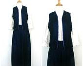 Vintage Velvet Skirt - bl...