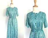 Vintage Blue Dress - shir...