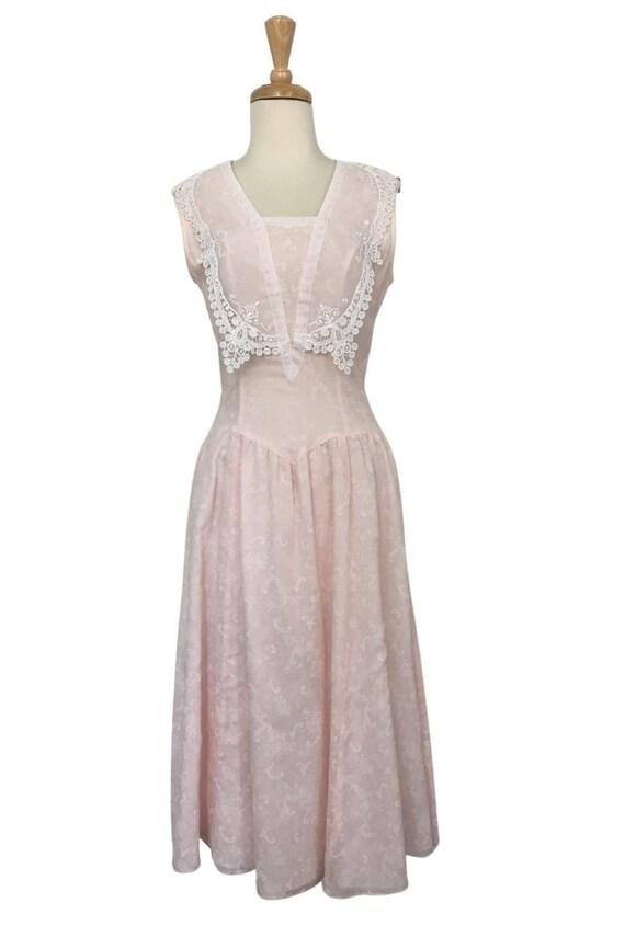 Vintage Gunne Sax Cottagecore Prairie Dress - Sma… - image 2