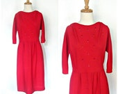 Vintage Red Party Dress -...