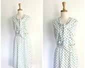 1960s polka dot dress - 6...