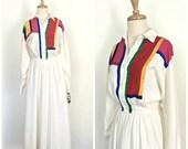 Vintage 80s Dress - color...