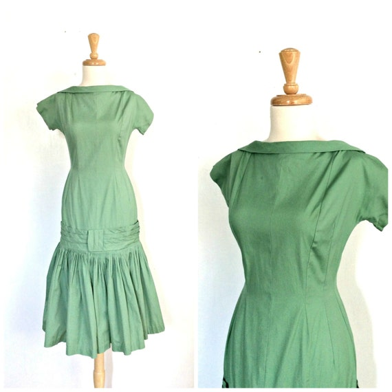 1960s Drop Waist Dress - cocktail dress - drop wai
