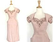 Vintage 1950s Wiggle Dres...