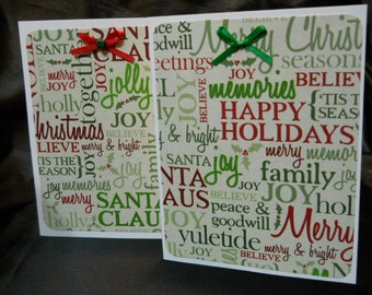 Happy Holidays Card Set