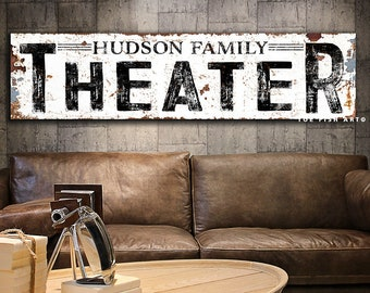 Home Theatre Sign Etsy