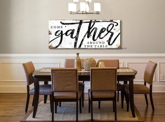 Modern Farmhouse Wall Decor, Dining Room Signs