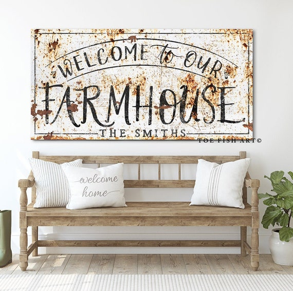 Rustic Wood Signs Modern Farmhouse Decor Gifts for Her My Children Birthdate Farmhouse Signs Custom and Personalized