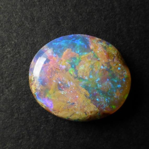 Freeform Opal Australian Boulder Opal 14 x 11 x 4mm Wood Fossil YU266 Untreated Opal Designer Gemstone Supplies