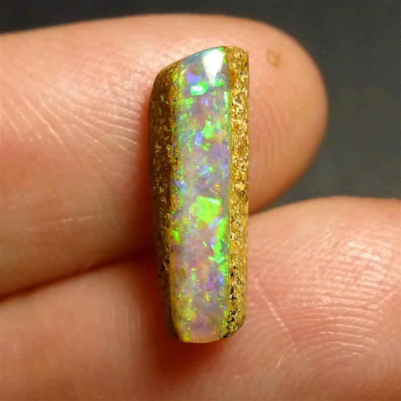 YU243 Gemstone Supplies 14.5 x 5 x 4mm Free Form Opal Australian Boulder Opal Designer Untreated Opal Wood Fossil