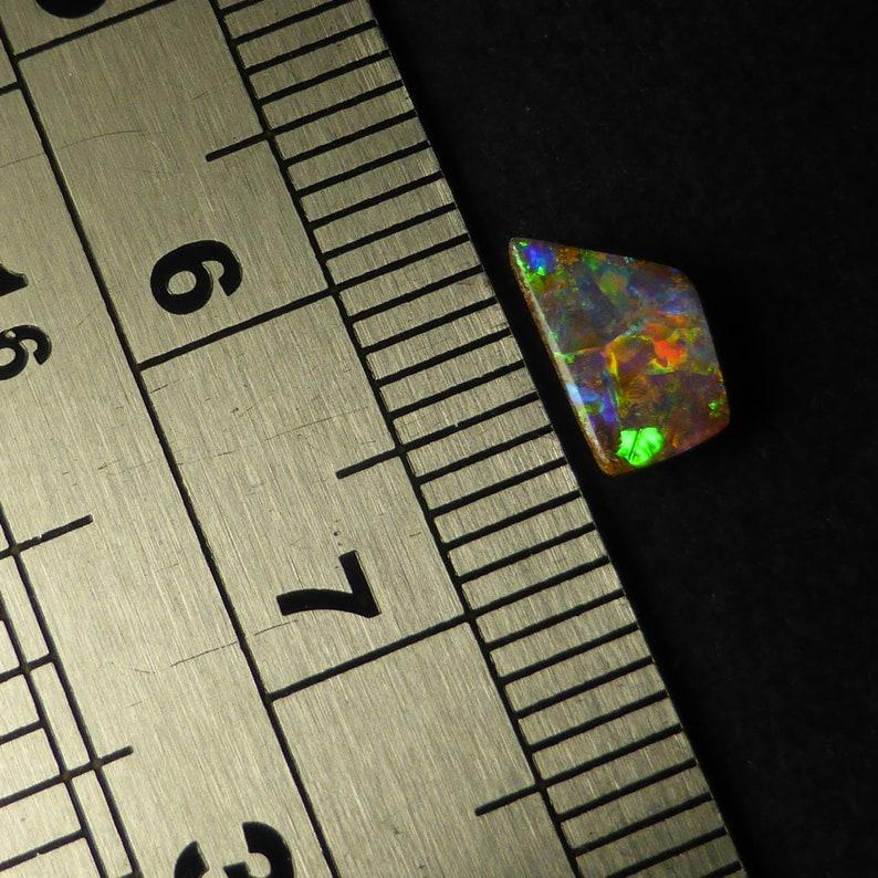 8 x 4.3 x 2.5 mm SX114 Australian Boulder Opal 0.5 Carat Queensland Free Form