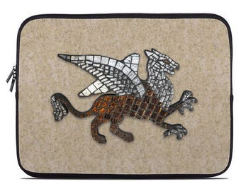 Mosaic Griffin Laptop Sleeve, laptop case, laptop cover, to fit 10, 13, 15, 17 inch, computer sleeve, netbook case, coworker gift