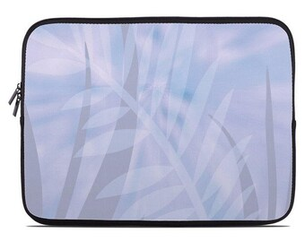 Tropical Leaves Laptop Sleeve, lavender laptop case, laptop cover, to fit 10, 13, 15, 17 inch, computer sleeve, netbook case, lilac, purple