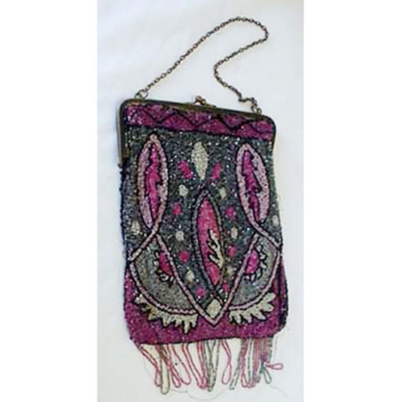 1920s Flapper Beaded Hand Bag Apparel and Accessor