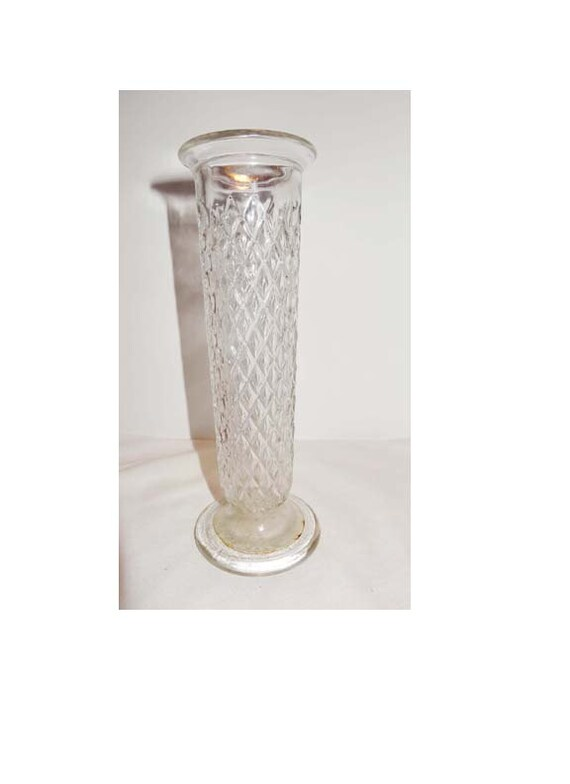 Clear Pressed Glass Bud Vase Eo Brody Co C 919 Usa Home Etsy