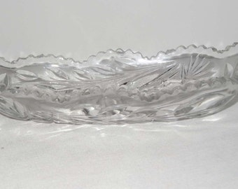 Crystal Relish Dish or Tray Home and Garden Kitchen and Dining Serveware Tableware Trays