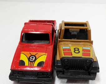 Tootsie Die Cast Cars Pick Up Truck and a Jeep Toys and Games Toys Play Vehicles Toy Cars and Construction Vehicles