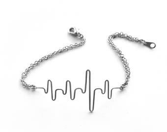 Nurse Gift Ideas, Nursing Graduation, Heartbeat Bracelet, Nursing School Grad Gift, Ekg Bracelet, Heart Beat Bracelet, Gift for Doctor