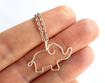 Animal Lover Gift, Elephant Necklace, Elephant Baby Shower Gift, Gift for Daughter, Gift for Her, Elephant Jewelry Pendant Nature Lover Gift