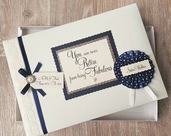 Personalised Retirement Keepsake Scrapbook Album