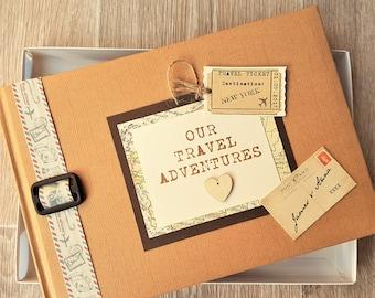 Personalised Kraft Travel Adventures Scrapbook