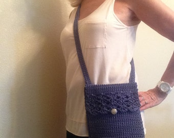 Purse Digital PATTERN Crocheted Cross Body