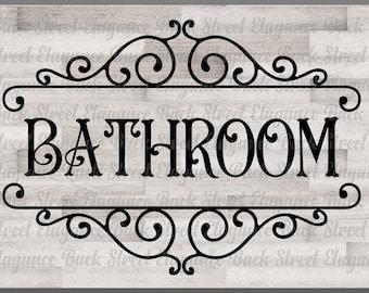 Bathroom svg | Etsy