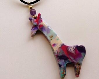 Giraffe Pendant Giraffe Jewelry Giraffe Necklace  African Jewelry