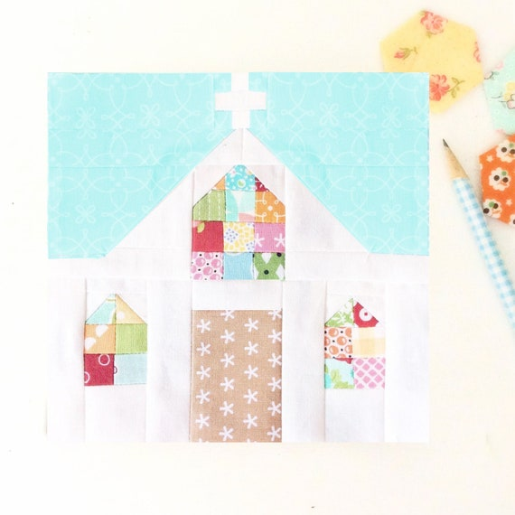 Country Church Quilt Block Pdf Instant Download Quilt Pattern Etsy