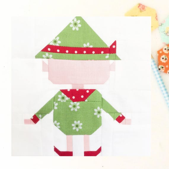 Christmas Elf Quilt Block Pattern 60 Inch And 60 Inch Etsy Unique 12 Inch Quilt Block Patterns