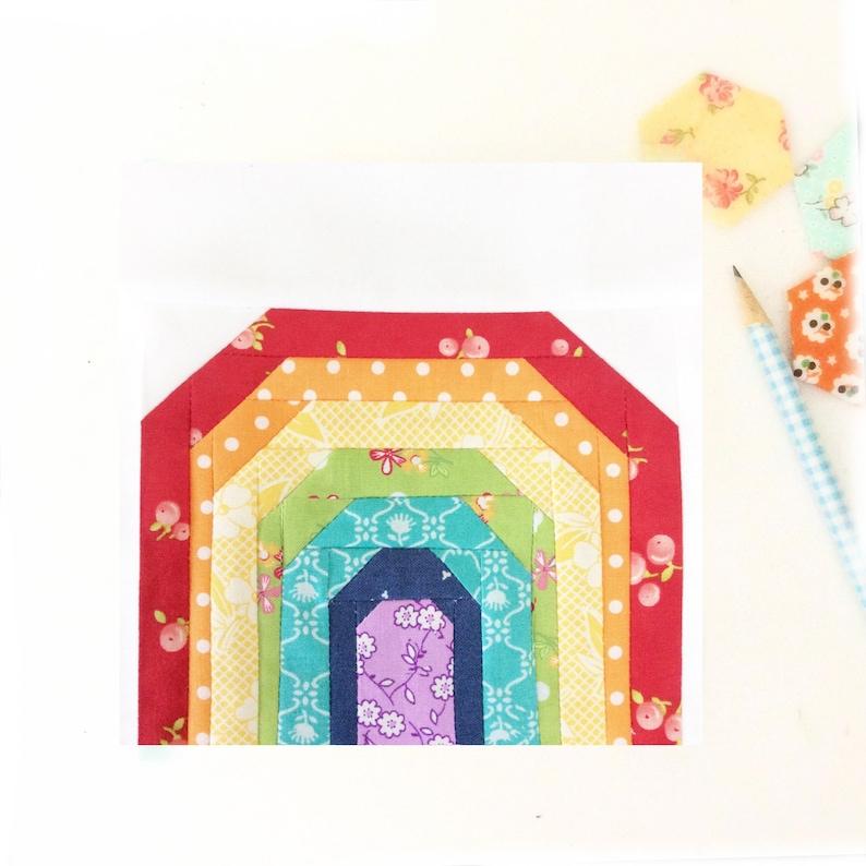 Promise Rainbow Quilt Block PDF Instant Download Quilt Pattern image 0