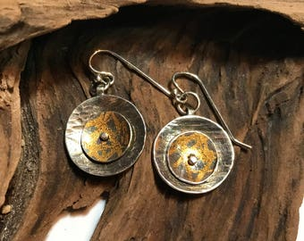 Sterling Silver and 24k Gold Kumbeu Earrings