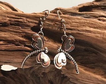 Mixed Metals Dragonfly Earrings
