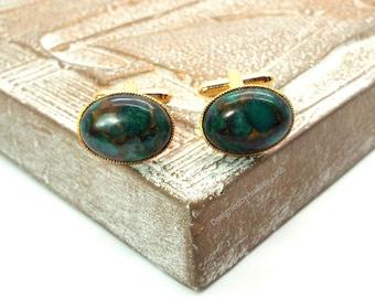 Brecciated Jasper Gold Oval Cufflinks Wedding Cufflinks Special Gifts for Men 10 20 30 Anniversary 21 30 40 50 60 Birthday