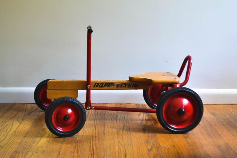 Vintage 1980s Wood And Metal Radio Flyer Row Cart For Children Etsy
