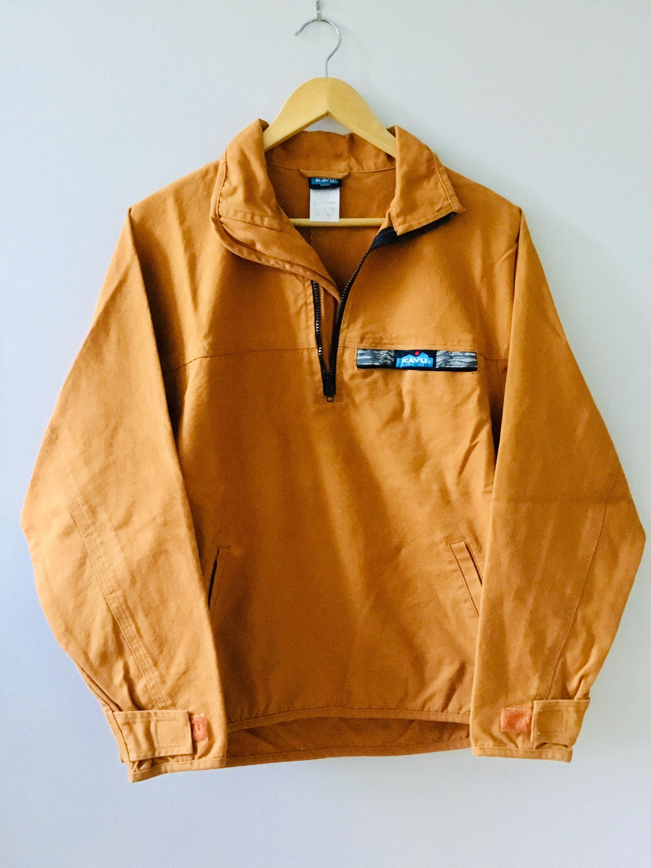 Orange Kavru toile chemise des taille Small des chemise hommes Vintage 16d588