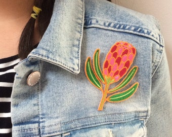 Protea Embroidered Patch