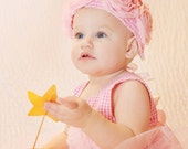 1st birthday  pink baby girl princess dress photo prop vintage style wedding, size from NB to 2T