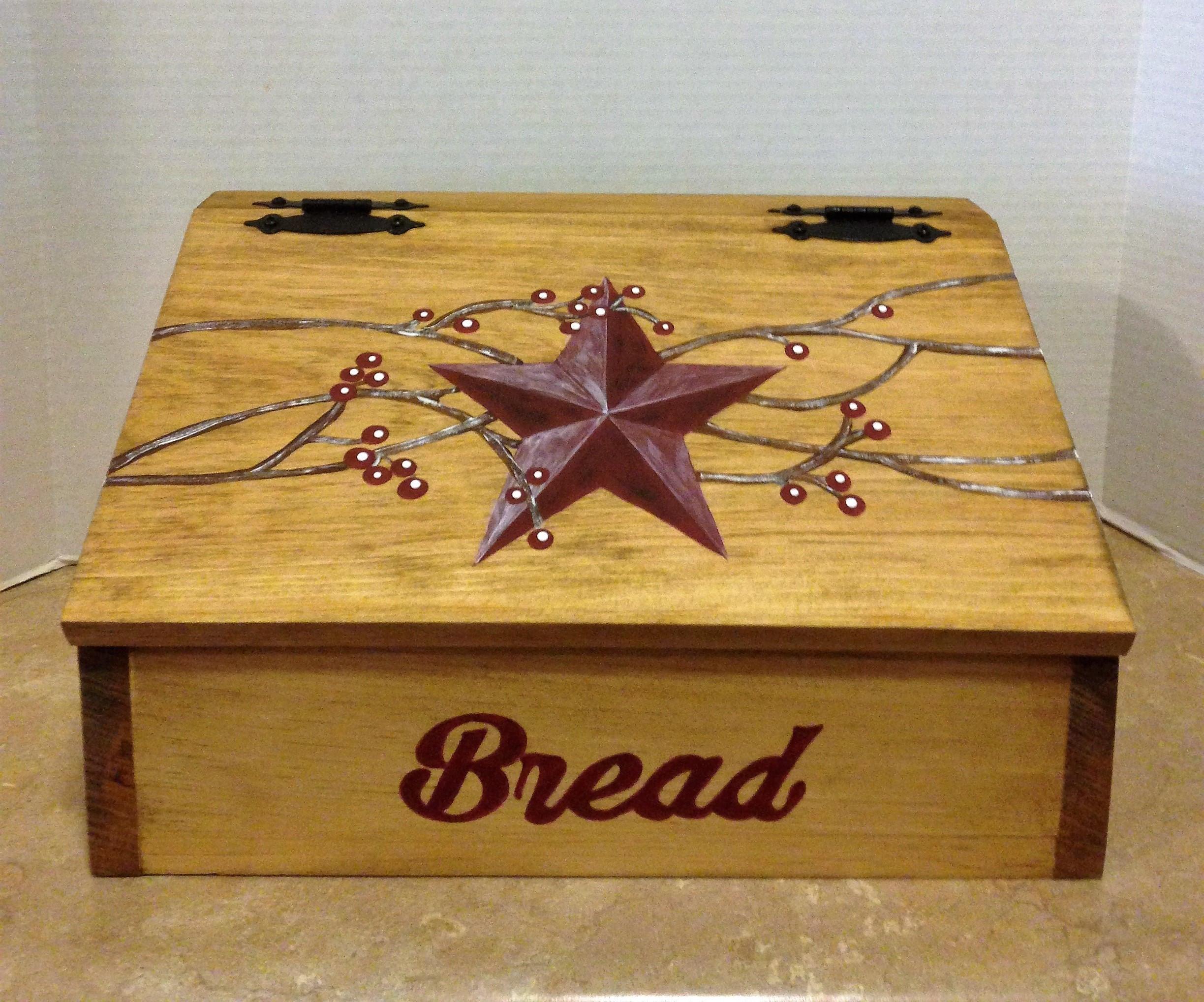 Bread Box Wooden Bread Box Kitchen Bread Box Primitive Star Decor Country Decor Farmhouse Decor Primitive Kitchen Decor Box For Bread