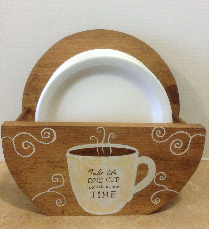 Paper Plate Holder, Coffee Decor, Coffee Theme, Bistro Theme, Coffee ...