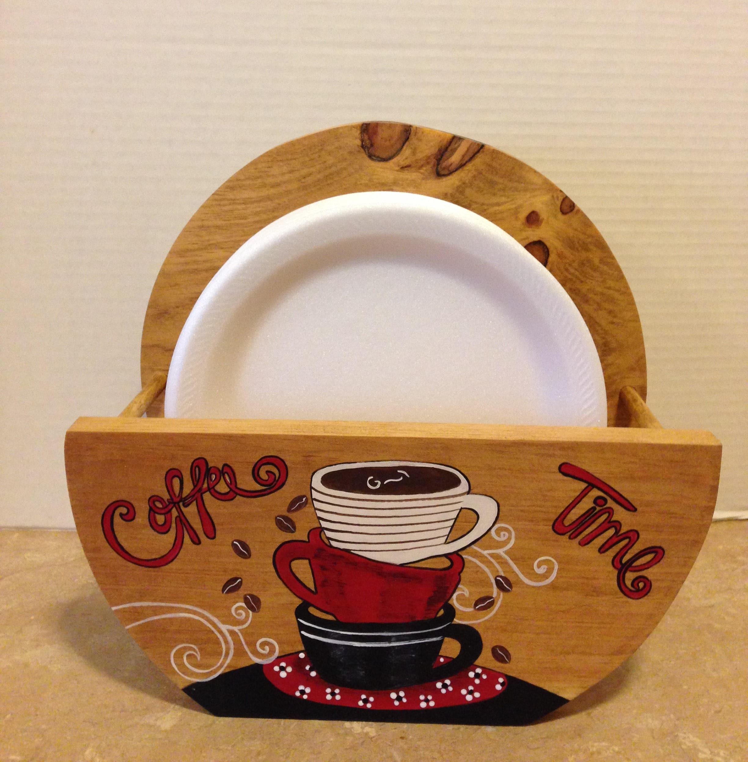 Paper Plate Holder Coffee Theme Coffee Decor Coffee Lovers