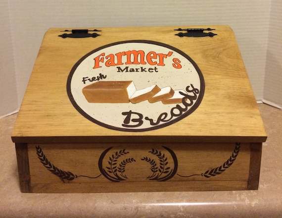 Wooden Bread Box Bread Box Kitchen Bread box Box for Bread Bread Storage Kitchen Storage Kitchen Decor Farmhouse Bread Box Country Bread Box