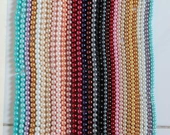 Bulk Beads Destash, Great Quality Lead and Nickel Free Glass Pearls in Bulk - 1kg Mix Bag Box