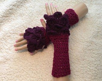 Berrilicious Fingerless Gloves-Small Adult
