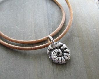 Teensy Fiddlehead Charm, Fine Silver Fern Pendant, SilverWishes Exclusive