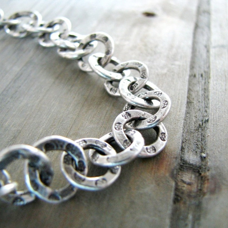 Recycled Silver Fine and Sterling Silver Moon Phases Bracelet Transitions Original and Exclusive by SilverWishes